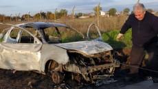 auto quemado Espindola Chicago jugador