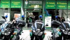 centro de monitoreo policía equipamiento motos