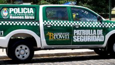 108 emergencias Brown policia patrulla