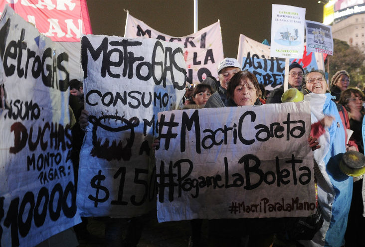Tarifazo marcha protesta gente boleta luz gas agua tarifazo aumento