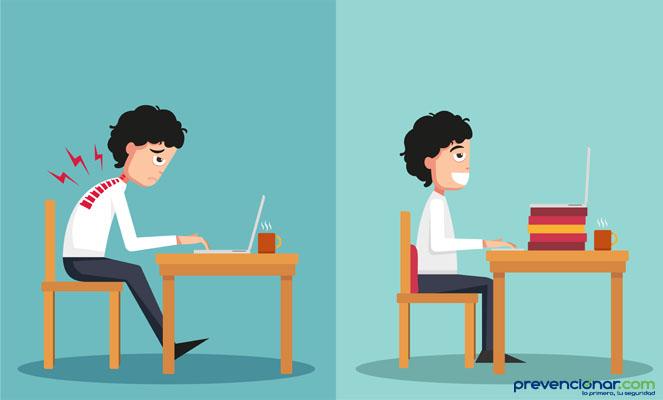 Capacitan sobre prevenci n de problemas posturales en el for Prevencion riesgos laborales oficina