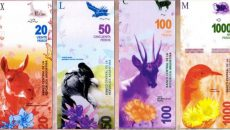 billetes, animales, próceres