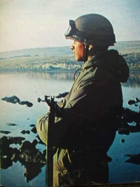 Jorge Palacios defendiendo la soberanía de las Malvinas